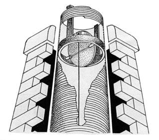 Round chimney dampersround spider lyemance lock top chimney